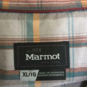 Marmot Shirts - Marmot Plaid Button Down - XL